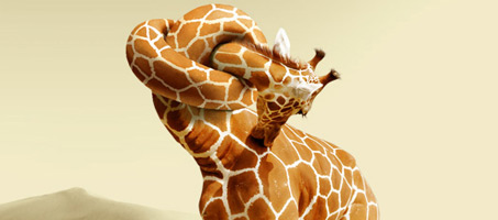 Giraffe Neck Knot Photoshop Tutorial. How to apply skin texture to the knot shape.