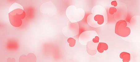 Bokeh Vector Valentine's Day Background