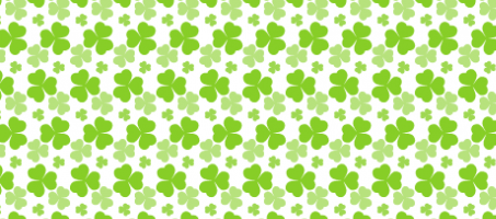 St Patrick's day clover seamless vector pattern