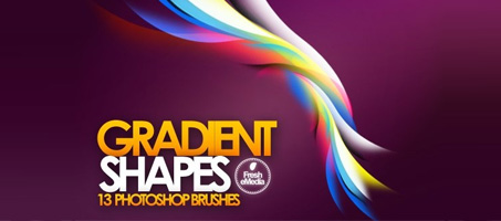 Over 11 Beautiful Abstract Gradient Shape Brushes