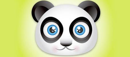 Create a Really Cute Panda Bear Face Icon