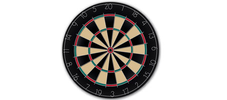 Hit the Mark with a Realistic Vector Dartboard