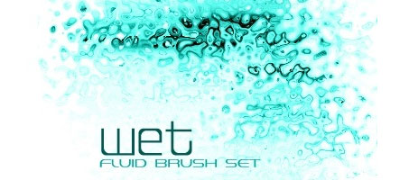 Wet And Fluid Photshop Nature Brush Set