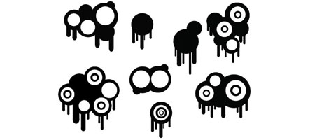 Awesome Illustrator Vector Drips And Circles