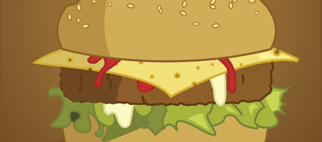 How to draw a delicious Burger using illustrator