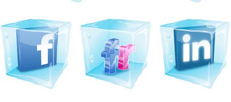 Free Social Media Ice Cubes Vector Icon Set