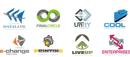 Eight high quality free logo design vector symbols