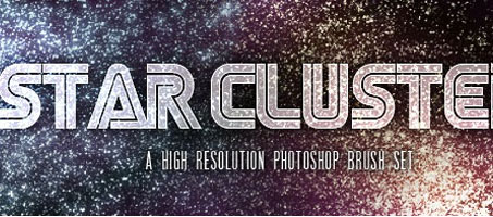 Star Clusters : A High Res Photoshop Brush Set