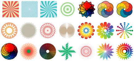 Go Media's Awesome New Colorful Radials Vector Set