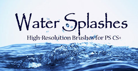 Amazing Hign-Res Water Splashes Photoshop Brush Set