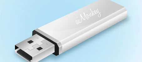 How to draw an awesome USB Flash Drive