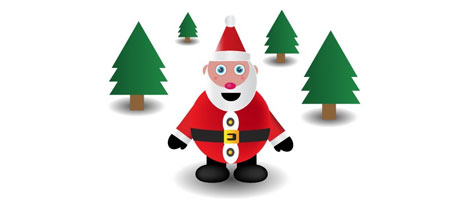 A Free Cute Santa Christmas Vector Illustration