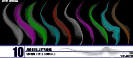 An Amazing free smoke – illustrator brush pack