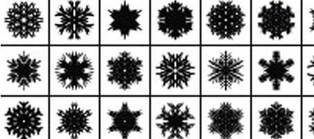 Exclusive Illustrator Snowflake Scatter Brushes