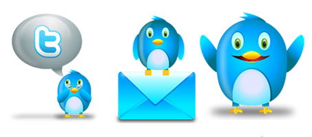 Freebie: Cute Fluzzy Twitter Vector Icon Set