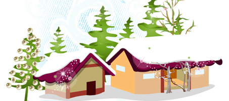 An New Year 2010 Vector Winter Illustration Design