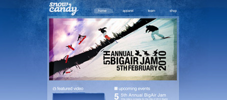 Create A Gnarly Snowboard Theme Web design