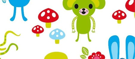 Design seamless cute character patterns using illustrator