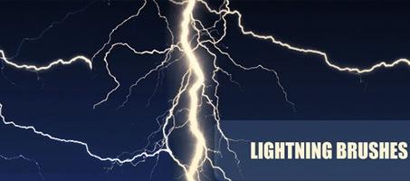 9 Dark High Quality Photoshop Lightning Brushes