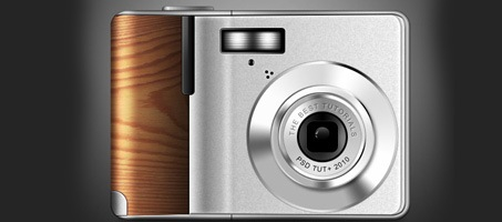 Create a Digital Camera With Wooden Accents Using Photoshop