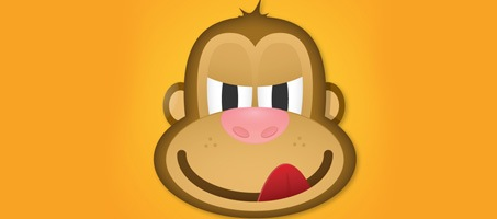 Create The Face Of A Greedy Monkey In Illustrator