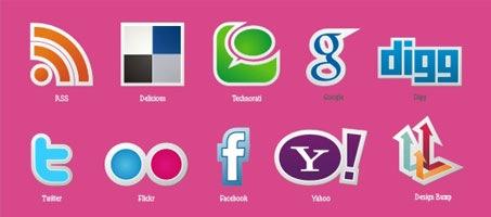 New free popular social media icons vector set!