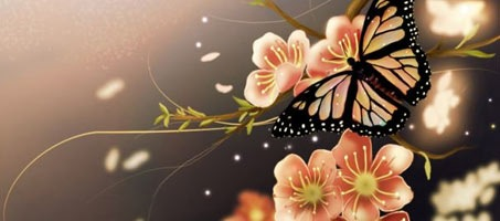 How to Make a Beautiful Spring Butterfly Scenery
