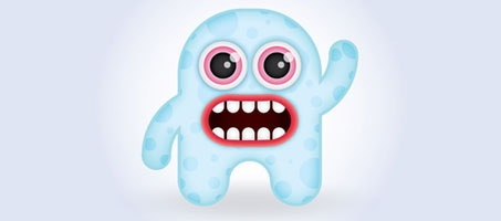 Create a Cute Baby Monster Character in Illustrator