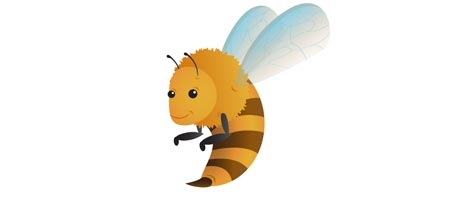 How to Draw a Funny Bee Illustration Using Illustrator