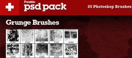 Exclusive Freebie Pack – 25 Grunge Photoshop Brushes