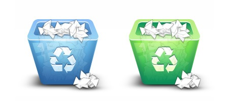 Make a 3D Recycling Bin Icon Using Photoshop