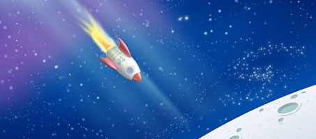 Create a Colourful Space Scene Design Using Photoshop