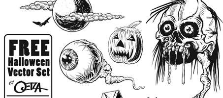 Free Halloween scary but great Design Vectors