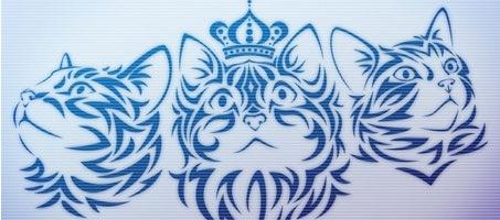 Tribal Kittens Photoshop design brush set