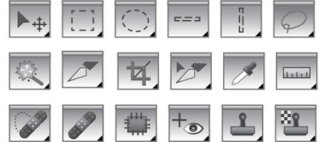 Photoshop Object And Element Tool Vector Icons