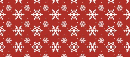 Festive Seamless Winter Snow Flakes Vector Pattern