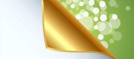 Quick Tip: How to make a Golden Curled Corner using Adobe Illustrator