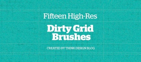 15 High-Res Dirty Grid Photoshop Brushes