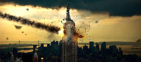 Meteorite Impact Photoshop Photo Manipulation tutorial