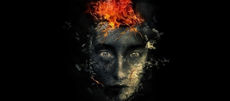 Create Surreal Face with Flame Hair Effect in Photoshop
