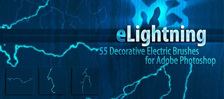 Lightning High Quality Photoshop Free Design Brush