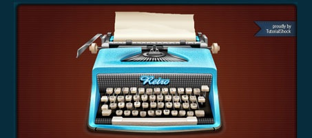 How to make a realistic vintage typewriter in Illustrator