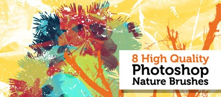 High quality free Photoshop nature design brushes