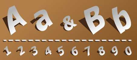 How to Create a Paper Style Alphabet using Illustrator 3D