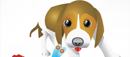 A Vector Scalable Puppy Dog Free Design Illustration