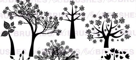 High Free Woodland Photoshop Brush Silhouettes