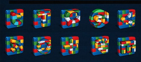 A Great Social Media Lego Vector Social Icon Set