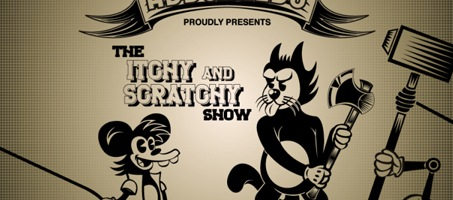 Create The Itchy and Scratchy Show Retro Version Illustrator