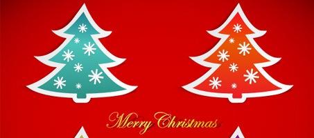 Christmas Tree Sticker Vector Design Graphics