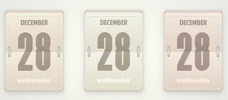 Create a Vector, Daily Flip Calendar Using Illustrator